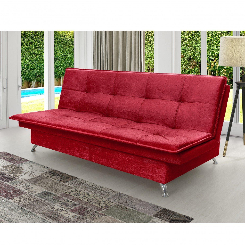 Menor pre o em sof estofado sof cama vermelho no buscap - Sofa cama carrefour 99 euros ...