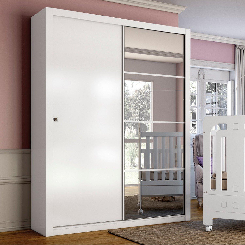 Interior Armario Kvikne Ikea ~ Guarda roupa Solteiro 2 Portas Alegro Henn Branco R$ 728,54 em Mercado Livre