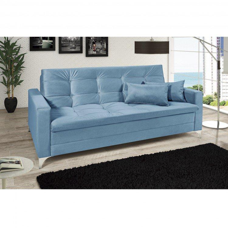 Sof cama reclin vel 3 lugares facility imp rio estofados for Sofa cama turquesa