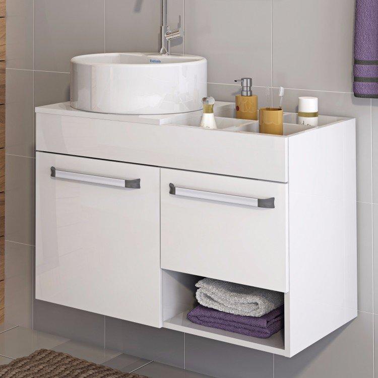 Linha Banheiro Itatiaia : Gabinete para banheiro com cuba redonda acqua itatiaia