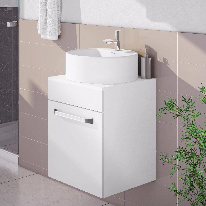 Menor Preço em Gabinete para Banheiro no Buscapé -> Gabinete Para Banheiro Branco Com Cuba