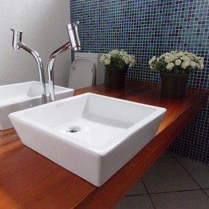 Cuba de Apoio para banheiro Jacuzzi Bergamo 38cm x 38cm x 14,8cm ...