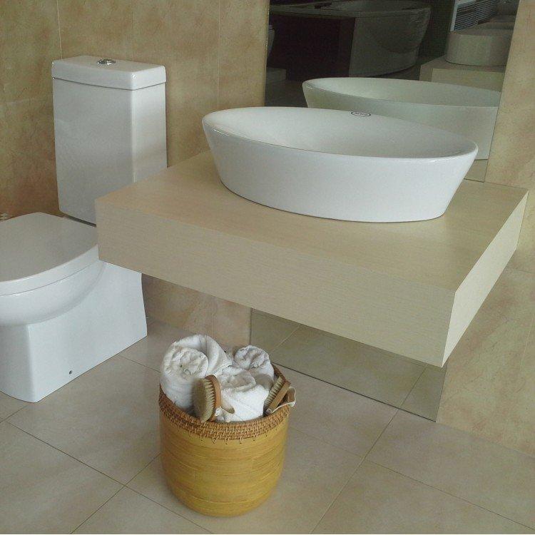 Cuba de Apoio para Banheiro de Jacuzzi Milano 63,5cm x 37,5cm x 14,5cm Branco -> Cuba Para Banheiro Jacuzzi