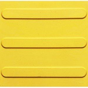 Piso de Borracha Tátil Direcional Isabela Revestimentos 3mm x 25cm x 25cm Amarelo