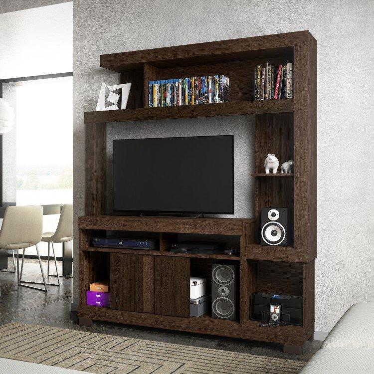 Estante para tv at 42 polegadas liz linea brasil castanho - Estante para televisor ...