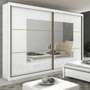 Guarda Roupa Casal com Espelho 2 Portas 6 Gavetas Toronto New Móveis Lopas Branco