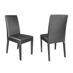 Conjunto 2 Cadeiras 4128 Madesa Gris/Grafite