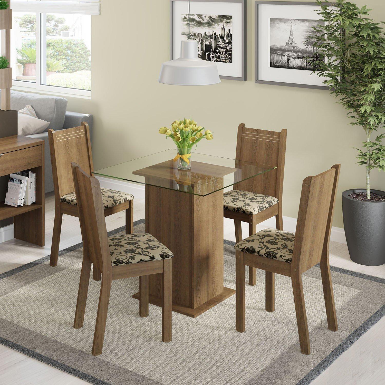 Conjunto sala de jantar mesa e 4 cadeiras magda madesa r for Sala 2 conjunto de artes escenicas