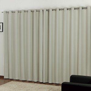 Cortina 2 Folhas Blackout Tecido Niazitex 3,00m x 2,50m Marfim