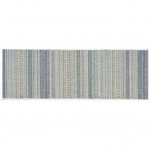 Passadeira Retangular Sisal Aracaju Abstrato Niazitex 60cmx1,80m Azul
