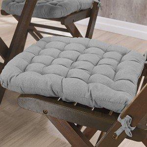 Almofada para Cadeiras Futton Kalamar Niazitex Cinza