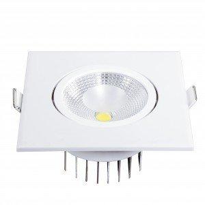 Spot LED Embutir Quadrado 6W Blumenau 3000K Luz Amarela