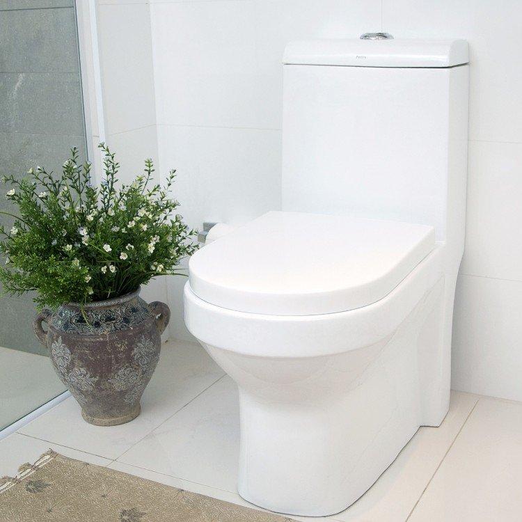 Vaso sanit rio com caixa acoplada pettra safira branco em for Modelos sanitarios
