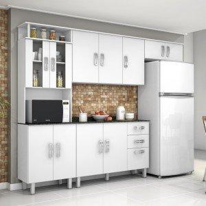 #474474 Cozinha Completa MadeiraMadeira 300x300 Cozinha Compacta Completa Com Pia cobebct.com #4197 Imagens