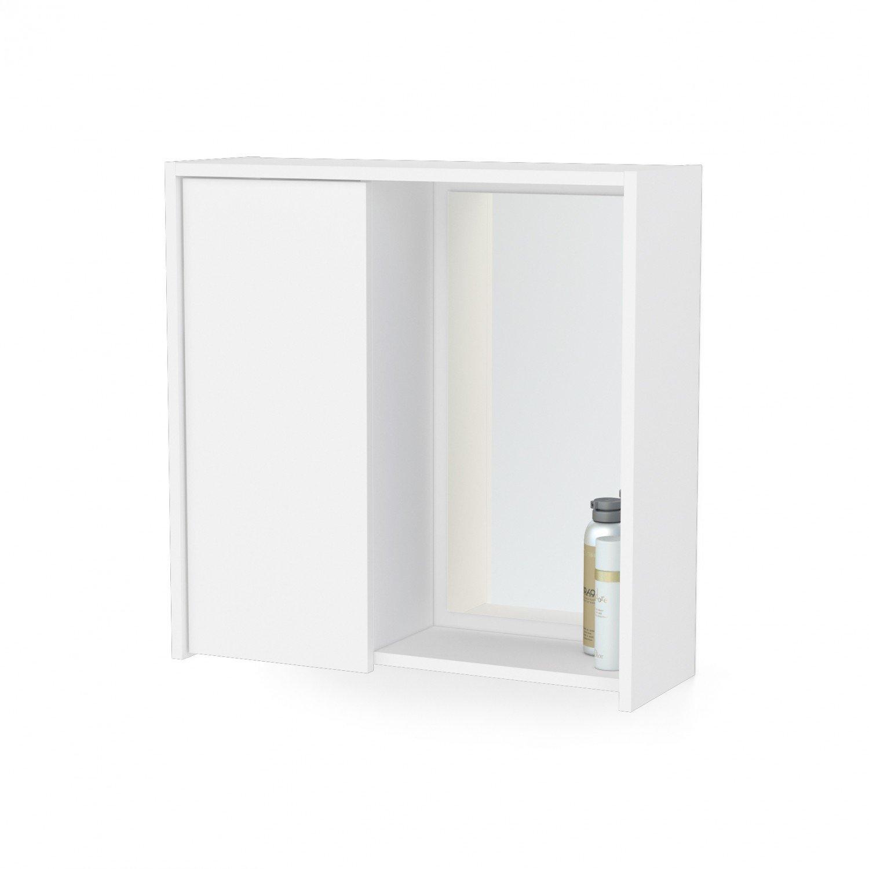 Armário Aéreo Para Banheiro Com Espelho Itália Politorno  R$ 89,90 em Mercad -> Armario De Banheiro Mercado