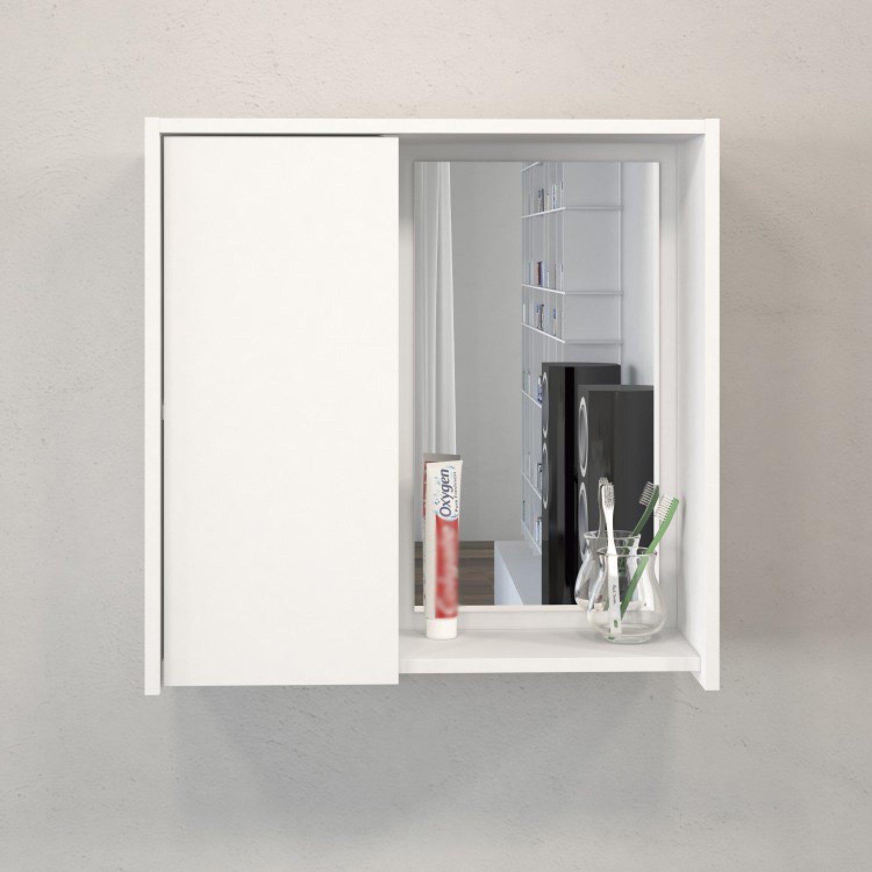 Armário Aéreo Para Banheiro Com Espelho Itália Politorno  R$ 89,90 em Mercad -> Armario De Banheiro Aereo Com Espelho