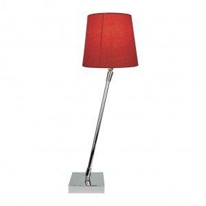Abajur Haste Giratória e Cúpula em Tecido Premier Iluminação Vermelho