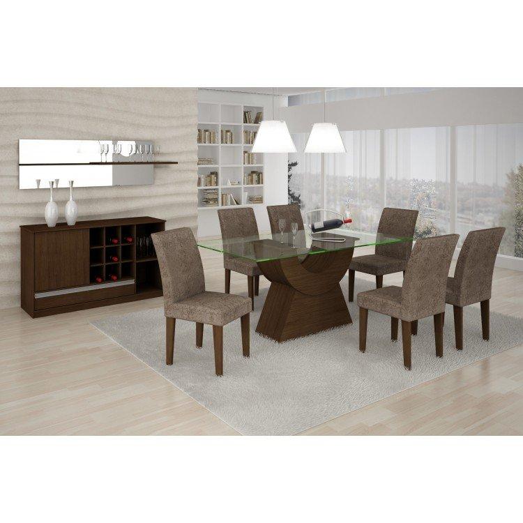 Conjunto sala de jantar mesa malta 1 60m e 6 cadeiras for Sala 2 conjunto de artes escenicas