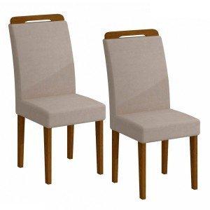 Conjunto 2 Cadeiras Athenas Rufato Imbuia/ Veludo Creme