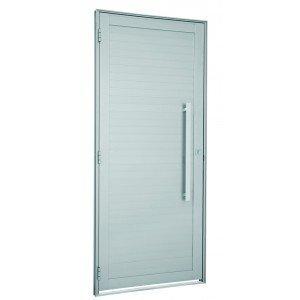 Porta de Alumínio com Puxador Alumifort Sasazaki 216cmx98cm Branco