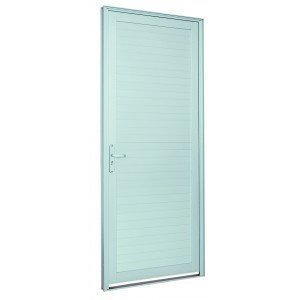 Porta de Alumínio Alumifort Sasazaki com 1 Folha 216cmx88cmx5,4cm Branco