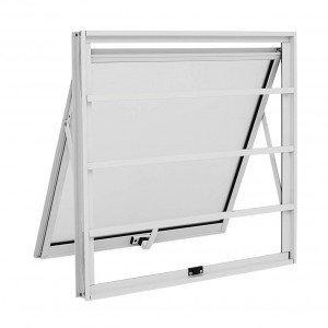 Maxim Ar Alumínio 1 Folha Grade Horizontal Alumislim Sasazaki 60cmx60cm Branco