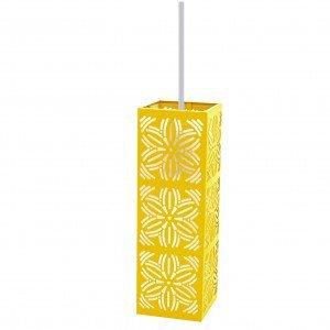 Pendente Aço Inox com 1 Lâmpada LED Renda 101 Taschibra Amarelo Metálico