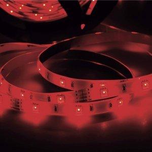 Fita LED 2,5W 30 LEDs/metro 5m 12V com Fonte Bivolt IP20 Taschibra Vermelho
