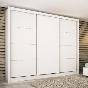 Guarda Roupa Casal 3 Portas de Correr Titanium Tcil Móveis Neve