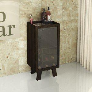 Adega 1 Porta em Vidro para 9 Garrafas Ad5001Tecno Mobili Marrom