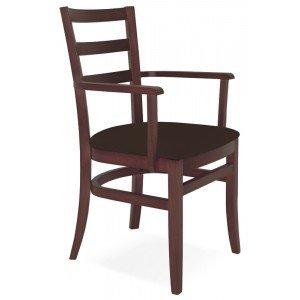 Cadeira Estofada com Braços Paris Sofie Tramontina Tabaco/Café
