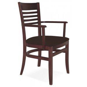 Cadeira Estofada com Braços Paris Marie Tramontina Tabaco/Café