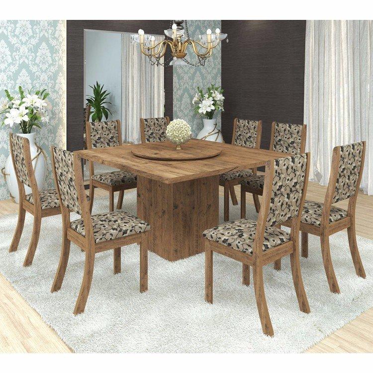Conjunto para sala de jantar mesa e 8 cadeiras viero lara for Sala 2 conjunto de artes escenicas