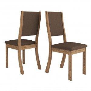 Conjunto 2 Cadeiras Kiara Viero Grigio/Bombom