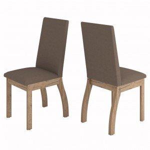 Conjunto 2 Cadeiras Slin Viero Grigio/Bombom