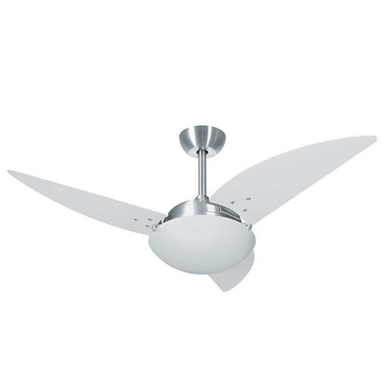 Ventilador de Teto 3 Pás Volare Platinum Class Titânio/branco 113cm - 110v