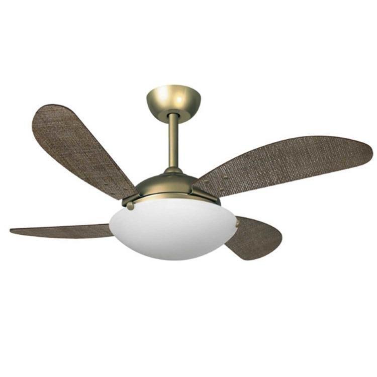Ventilador de Teto 4 Pás Volare Premium Gold Fly Palmae Tabaco Cm - 110v