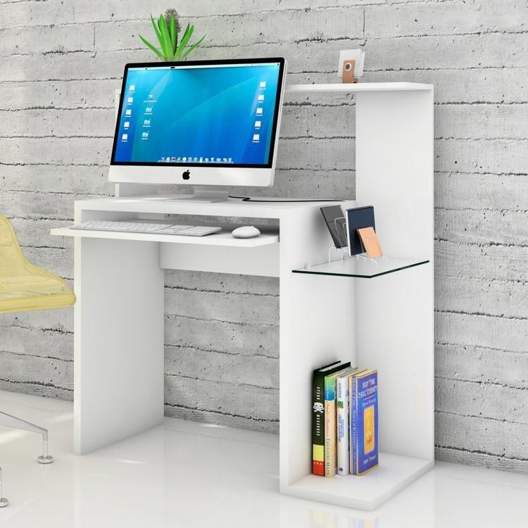 Mesa Para Computador Info Made Marcs Vida Branco Em Mesas
