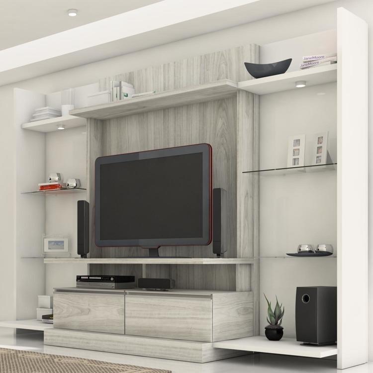 Estante para tv e home theater com 02 kits laterais made for E home products