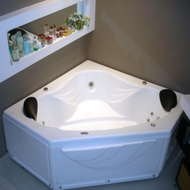 Banheira de Hidromassagem Ouro Fino Kanthocril II Premium 1,55m x 2,17m x 45c -> Banheiro Com Banheira De Hidro