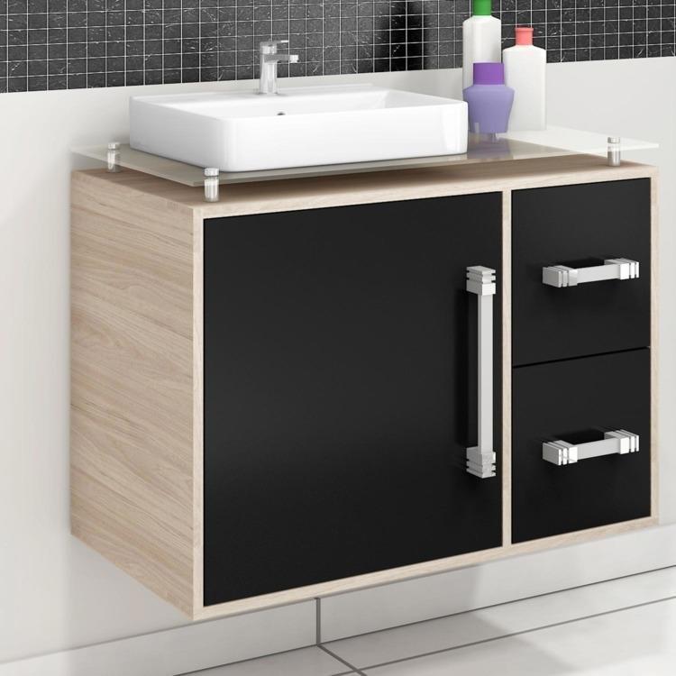 Gabinete para Banheiro Cerocha Centauri 80 cm (Acompanha Cuba e Tampo) Berlin -> Tampo E Cuba Para Banheiro