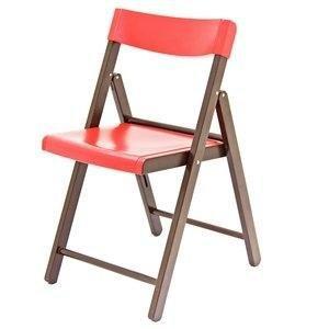 Cadeira Tramontina Potenza Tabaco/Vermelho