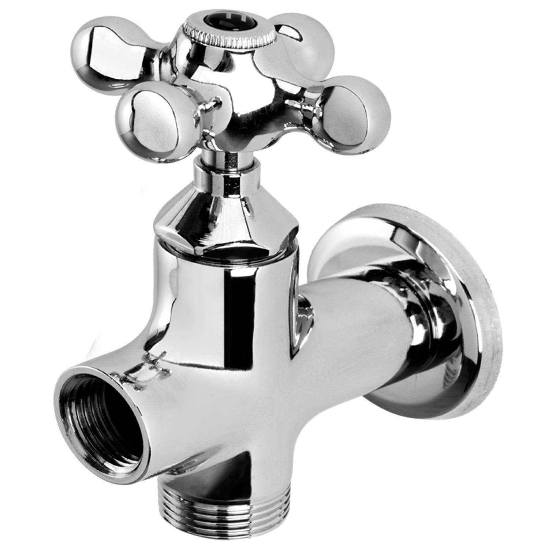 Desviador para Máquina de Lavar Roupa e Lava Louça Blukit 1 / 2 ´ ´ Cromado