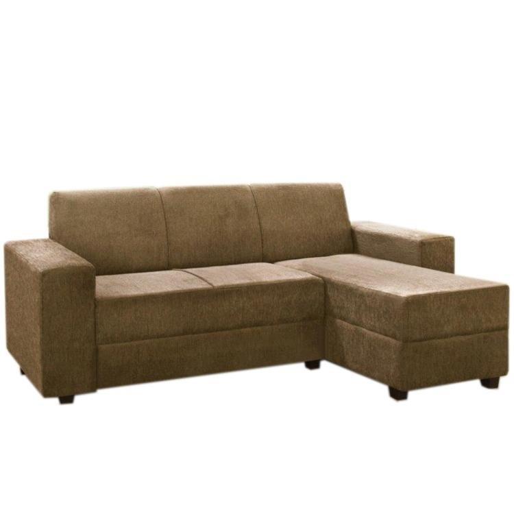Sof 3 lugares com chaise simbal capri 780570 marrom claro for Sofa com chaise 5 lugares