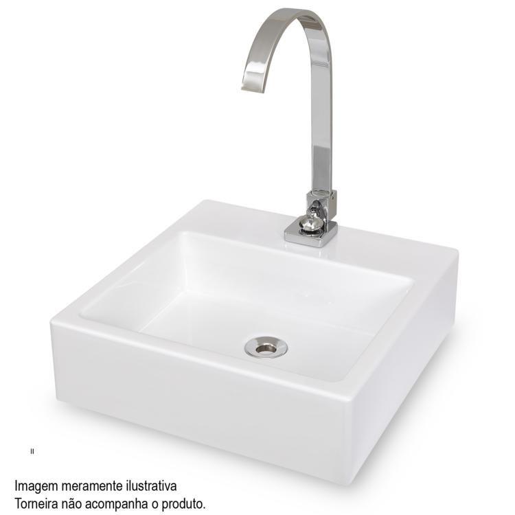 Cuba de Apoio para Banheiro Cubalux Quadrada Branco em Cubas na MadeiraMadeira -> Cuba Para Banheiro Em Belo Horizonte