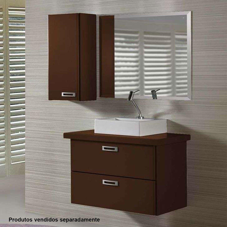 Armário Kenzo 01600051 Maxima Marrom Escuro  R$ 239,90 em Mercado Livre -> Armario De Banheiro Kenzo