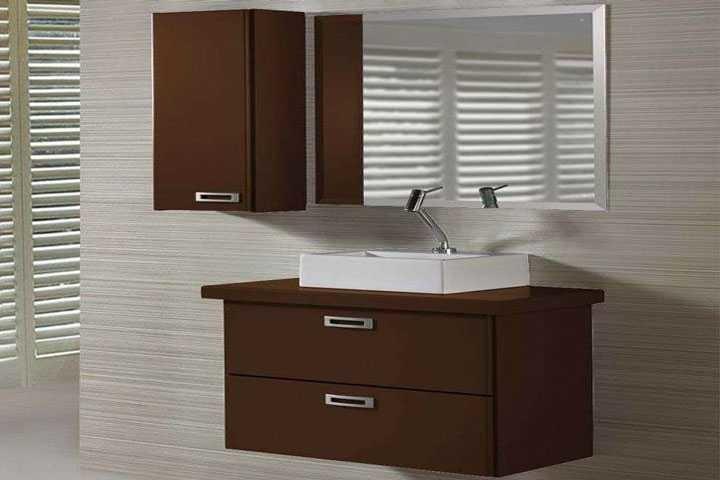 Banheiro Completo Enzo Marrom Escuro em Banheiros Decorados na MadeiraMadeira -> Armario De Banheiro Kenzo