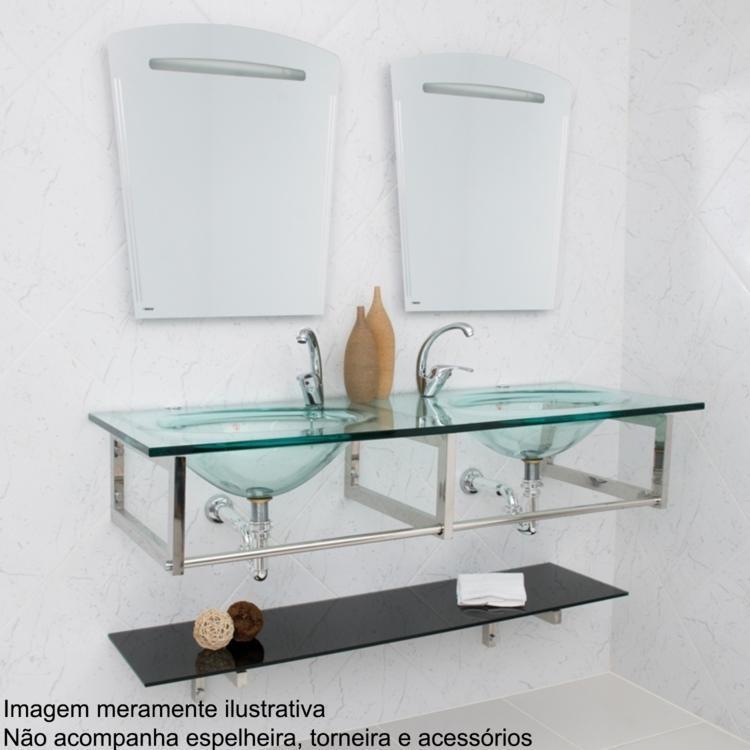 Gabinete para Banheiro Astra Picasso Vidro em Gabinetes na MadeiraMadeira -> Gabinete De Banheiro Astra