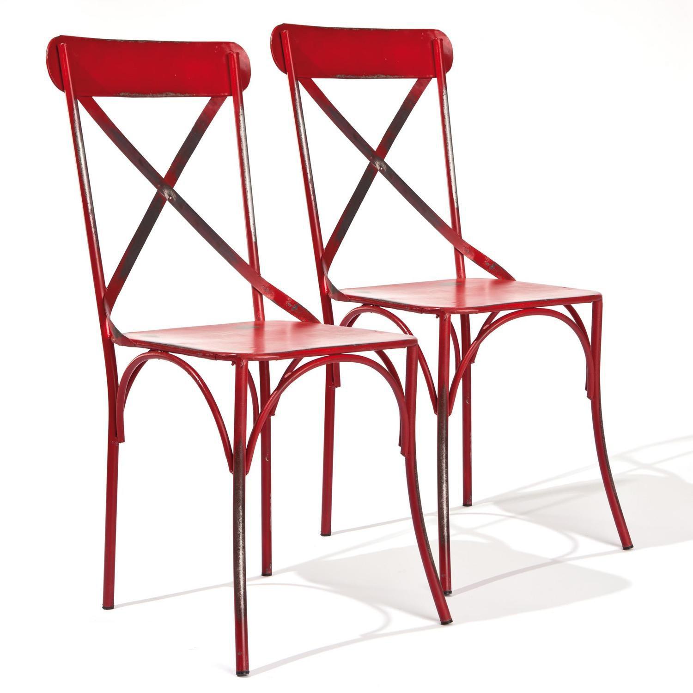 Conjunto 2 Cadeiras Bistrô Interlink Vermelho