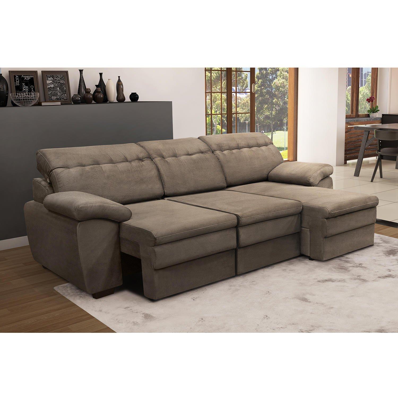 sof 3 lugares com chaise comfort tj1456 siena m veis r em mercado livre. Black Bedroom Furniture Sets. Home Design Ideas